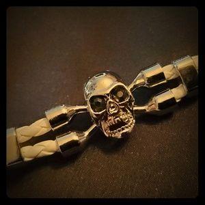 Skull Jewelry Little White Lies Leather Bracelet